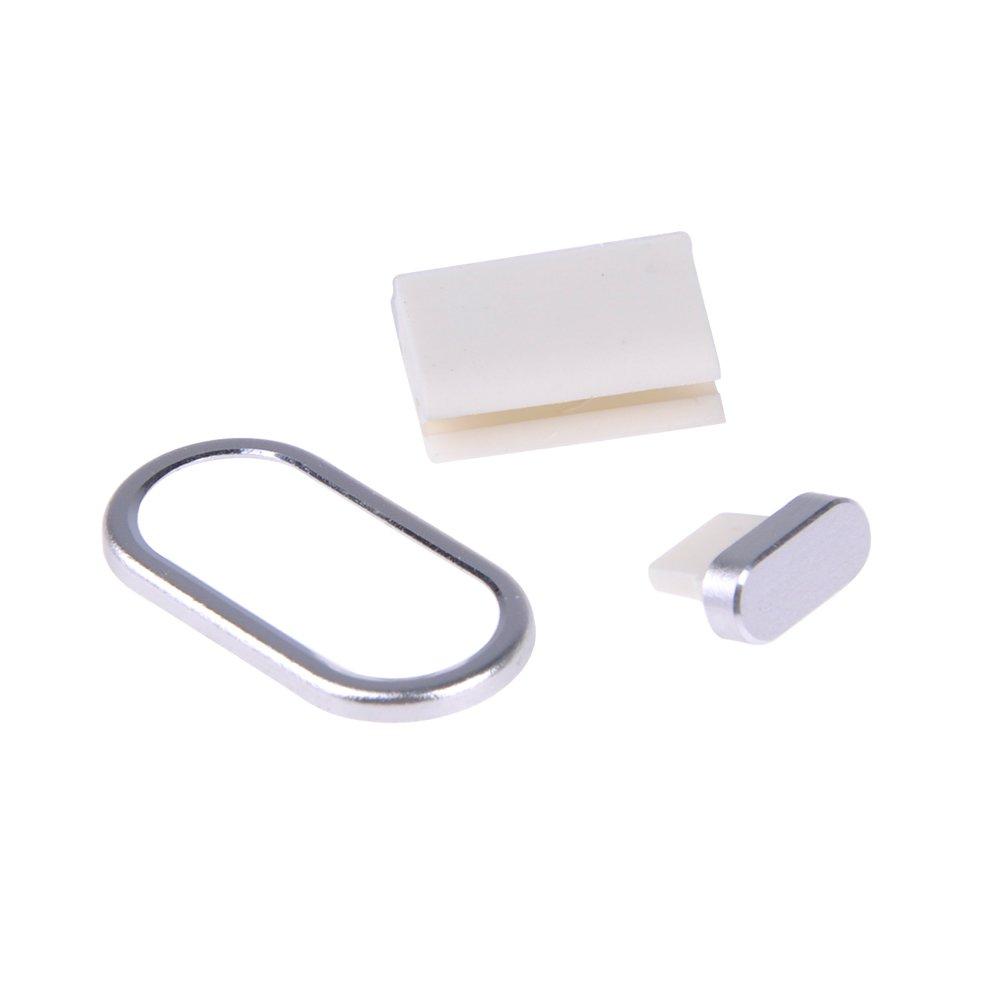 MM 3 Pcs Bouchon Anti-poussi/ère pour iphone 8 Argent