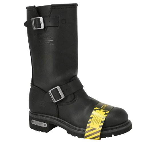 Xelement 1445 Mens Motorcycle Steel Toe Engineer Boot - 10 1/2