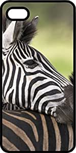 Zebra Profile Black pc Case for Apple iPhone 4 or iPhone 4s