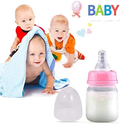 YUIO Portable Convenient Infant Baby 0-18 Monate Feeder 60ML PP Stillsaft Milch Mini Härteflasche (pink (60ml))