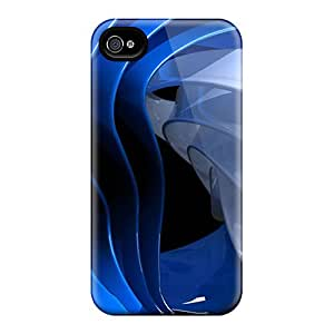 New AmN2513AVRo Blue Curves Hd Skin Case Cover Shatterproof Case For Iphone 4/4s