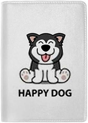 パスポートカバー ホルダー スキミング防止 多機能収納ポケット パスポートケース トラベルウォレット PUレザー エアチケット カードケース 収納ポーチ おしゃれ 可愛い犬柄 高級レザー 出張 便利グッズ 安全な海外旅行用