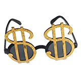 Baoblaze Funny Men Women Dollar Sign Money Cash Casino Sunglasses Kids Adults Holiday Party Accessories Eye Wear Glasses