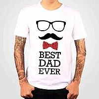 1WEN! Playera BEST DAD EVER, color blanco