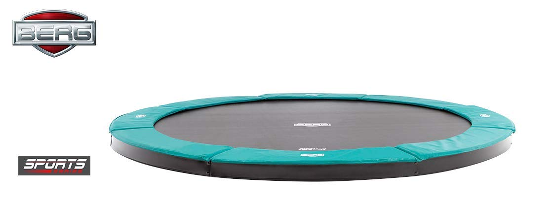 Berg FlatGround Champion 330 11ft Trampoline Sports Series Grün