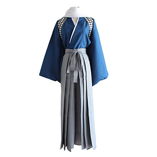 Labour Costume - Mtxc Men's Touken Ranbu Cosplay costume Yamatonokami Yasusada Labour Suit Size Large Blue