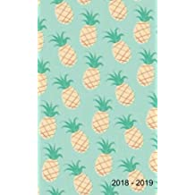 "2018 - 2019: Two-Year Monthly Pocket Planner: 24-Month Calendar , Notes and  Phone book, Size : 4.0"" x 6.5"", Hand Lettering book. U.S. Holidays ( Pineapple )"