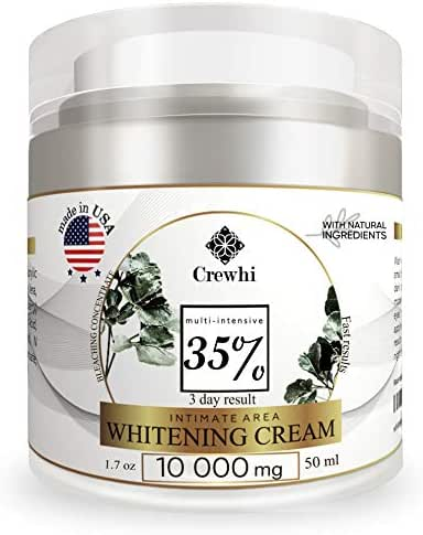 Skin Whitening Cream for Sensitive & Intimate Areas - Bleaching Gel for Body, Face, Bikini - Natural Lightening & Skin Care - Bleach dark spot removal for Women and Men - 35% percent