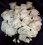 84 Silk Rose Flowers w/Raindrops - Wedding Flowers - Bridal/Floral - Ivory (OVERSTOCK CLEARANCE)