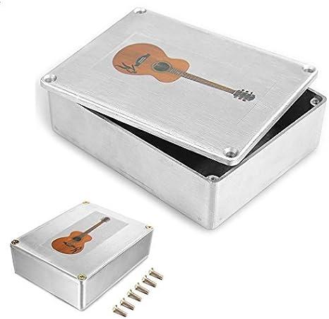 Caja de aluminio 1590BB estilo caja de efectos para guitarra