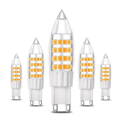 5-Pack G9 LED Bulb, 5W (40W Equivalent), Not Dimmable, Warm White 3000K, 5-Pack