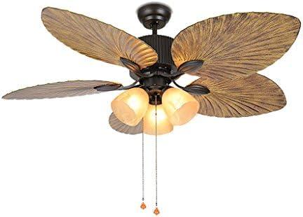 Americano ventilador de techo restaurante hoja ventilador lámpara ...