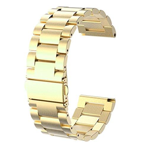 ZYooh Watch Band,Fashion Stainless Steel Bracelet Wrist strap For Garmin Fenix 3 / HR Smart Watch - Stainless Textured Bracelet Steel