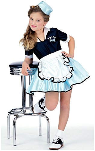 50s Favorite Girls Car Hop Costume, Medium -