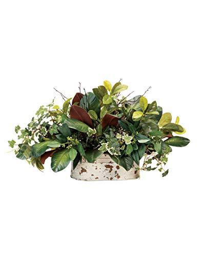 Petals-Silkflowers-Mixed-Magnolia-Planter-Artificial-Foliage-Arrangement
