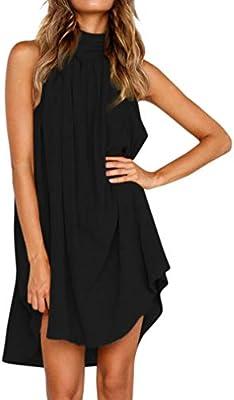 Vestidos Mujer Verano 2018,Modaworld ❤ Vestidos de Fiesta sin Mangas de Playa Verano de señoras Vestido Irregular de Mujeres Casual Vestir de Playa Niña
