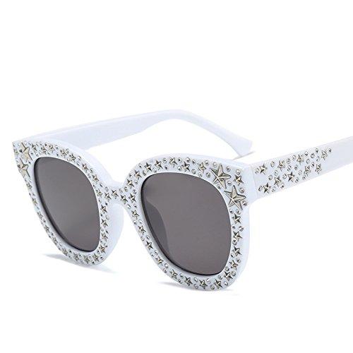 KlaPe Gafas Sol Retro Gafas F De Damas Sol Personalidad G Mujeres De Accesorios Gafas Tendencia Pentagrama xqrwx8gC