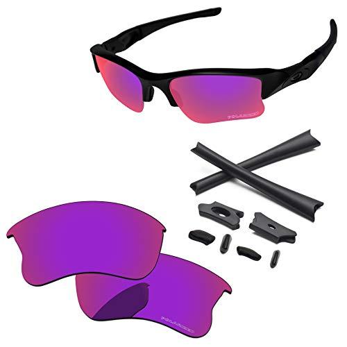 PapaViva Lenses Replacement & Rubber Kits for Oakley Flak Jacket XLJ Midnight Sun - ()