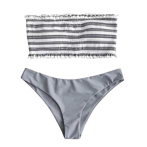 Women Sexy Lingerie Long Sleeve Bodysuit Lace Deep V Bodysuit Lingerie Sheer Teddy Lingerie Gray ()