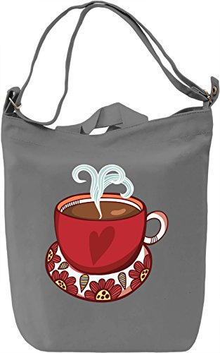 Coffee cup Borsa Giornaliera Canvas Canvas Day Bag| 100% Premium Cotton Canvas| DTG Printing|