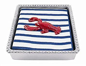 Red Lobster Twist Napkin Box - Lobster Mariposa