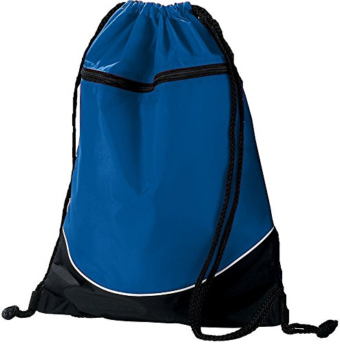 (Augusta Sportswear TRI-Color Drawstring Backpack OS Royal/Black/White)