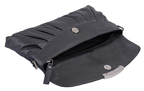 Bolsos de noche LEMONDO, de cuero, 30x14cm Gris