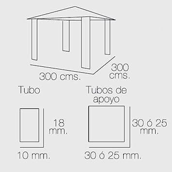PAPILLON 8043305 Pérgola 3x3 Metros Plegable: Amazon.es: Jardín