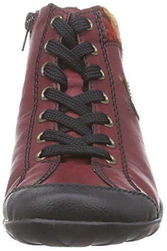 Orange Deporte Mogano Schwarz L6540 Zapatillas multi Rieker Altas Mujer para Wine de Rojo xv4Rwq