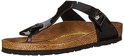 Birkenstock Women's Gizeh Thong Sandal, Black Patent, 38 M Eu7-7.5 B(m) Us