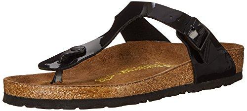 Birkenstock Gizeh Patent Leather Sandal,Black Patent,38 M EU