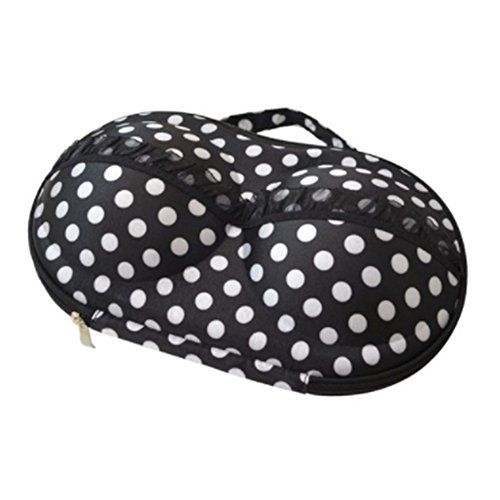 Samdo underwear Organizer Hard Travel Case Black with White Dot from babosarang