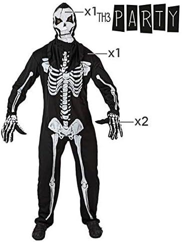 Atosa 96743 Disfraz esqueleto adulto M-L, talla hombre: Amazon.es ...