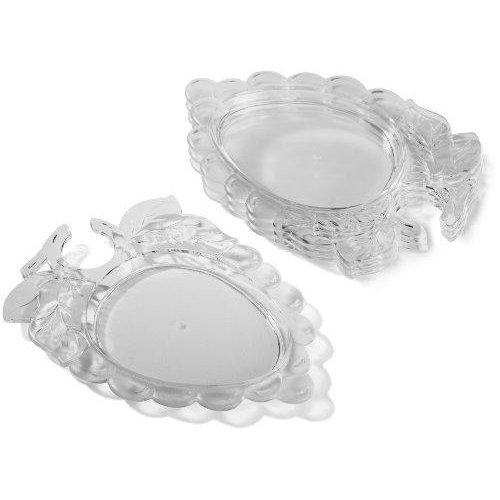 Prodyne AG-9 Embossed Grape Wine Holder Plates, Set of Four, Off- ()