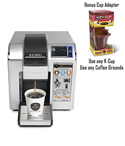 Keurig VUE V1200 Commercial Brewing System and BONUS K2V-Cup 2 in 1 Single Serve Coffee Adapter - Use Any K-Cup or Coffee Grounds!