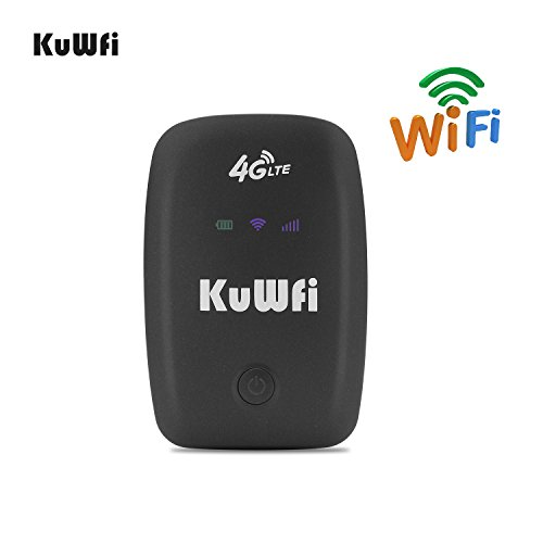 KuWFi Unlocked Travel Partner 4G LTE Router with SIM Card Slot Support LTE  FDD B1/B3/B5 Support AT&T and U S  Cellular 4G Sprint Network Including