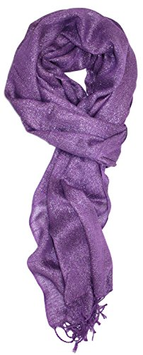 Ted and Jack - Hollywood Dreams Sparkling Metallic Scarf in Purple