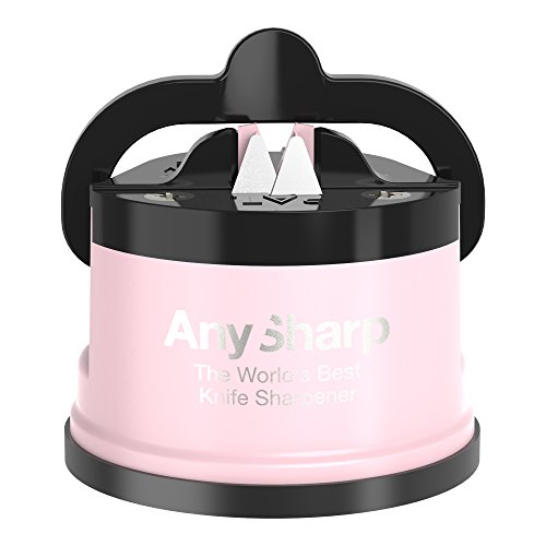 AnySharp Pro Knife Sharpener, Metal, Pink Cream