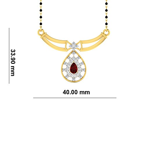 Libertini Colliar argent 925 plaque or Jaune serti de Diamant et Rubis