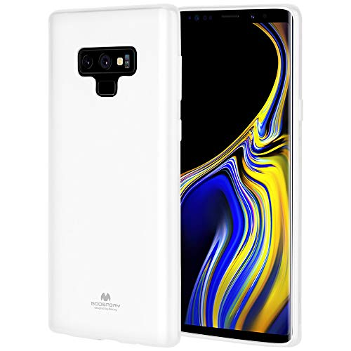 GOOSPERY Galaxy Note 9 Case, [Slim Fit] [Flexible] Pearl Jelly Rubber TPU Case [Lightweight] Bumper Cover [Protection] for Samsung Galaxy Note 9 (White) NT9-JEL-WHT