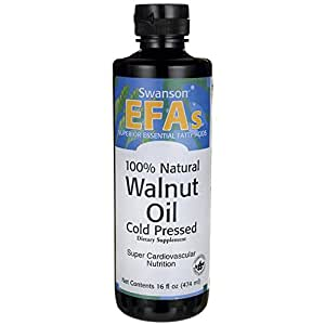 Swanson 100% Natural Walnut Oil, Cold Pressed 16 fl oz (473 ml) Liquid