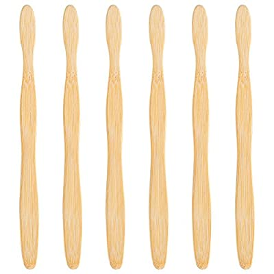Bekith Eco-Friendly Bamboo Toothbrush Adult Size - Natural Dental Care for Men & Women, Set of 6