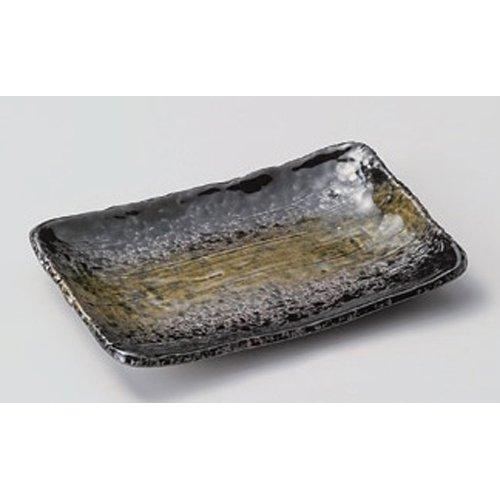 Grilled Fish Plate utw164-4-714 [6.3 x 4.5 x 0.8 inch] Japanece ceramic Kuromidoriirodori 5.5 length angle dish tableware