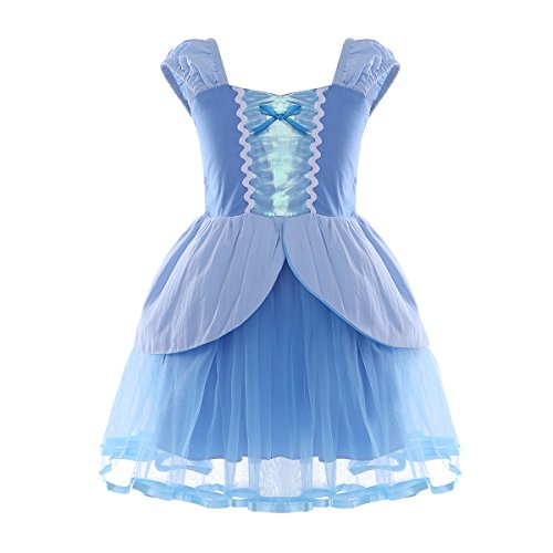 TiaoBug Baby Girl's Fairy Tale Princess Fancy Dress Costume Party Halloween Baptism Gowns Sky Blue 18-24 -