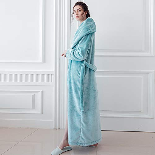 62253d9c71 7 VEILS Women and Men Microfleece Flannel Ultra Long Floor Length Bathrobes