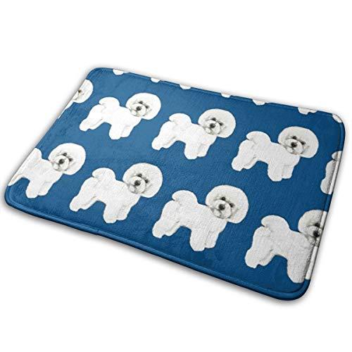 (FUSUISN Doormat Anti-Slip Bichon Frise Door Mat Welcome Mats Rug Doormat Floor Entrance Doormat for Indoor/Outdoor)