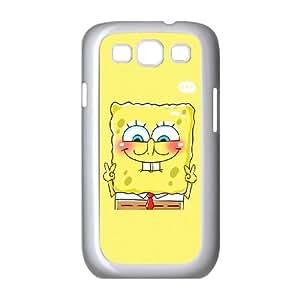 Samsung Galaxy S3 9300 Cell Phone Case White sponge Bob 18 LV7919996