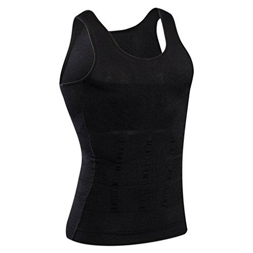 d4470ade85 Jual Jiao Miao Mens Waist Body Shaper Vest T-Shirt Tank Tops ...