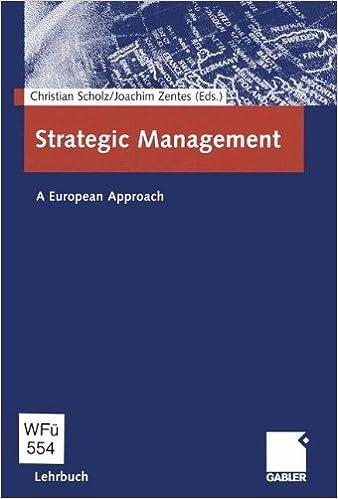 Strategic Management: A European Approach