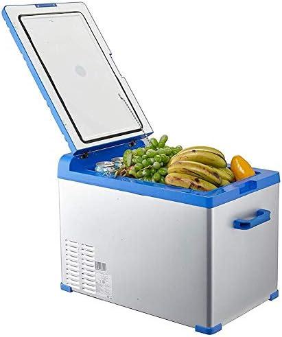 2020 40L DC 12V / 24V AC 220Vカー冷蔵庫低ノイズカーミニ冷蔵庫冷凍庫は暖房ボックス冷蔵庫ホームアウトドア冷却静か